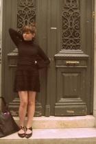 h&m via thrift town sweater - H&M dress - H&M shoes - Ruche purse
