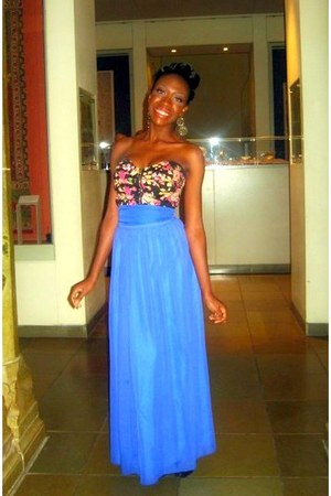 crop top Missguided top - silk maxi skirt Primark skirt - Miss Selfridge earring