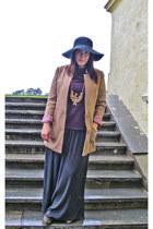 Biacno necklace - Bik Bok hat - H&M blazer - H&M pants - Zara top