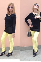 black Pomikaki bag - light yellow Blend jeans - black Flyflor pumps