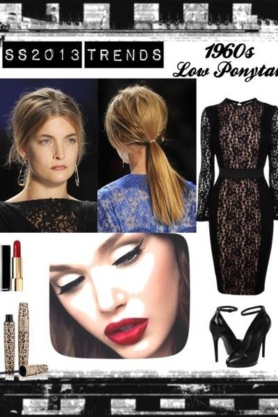 black lace Flannels fashion dress - black Couture Zappos heels