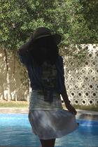 H&M shirt - pull&bear t-shirt - skirt