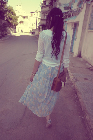 light blue vintage skirt