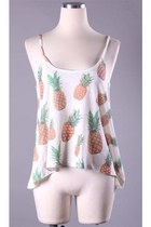 New Knit Pineapple Printed Tank