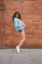 Coco  Liz jacket - Coco  Liz shorts - Coco  Liz sunglasses - Converse sneakers