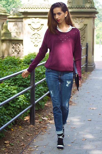 Coco  Liz jeans - H&M sweater - Coco  Liz blouse - Coco  Liz sandals