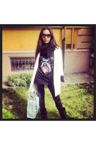 Givenchy t-shirt - ASH boots - Zara coat