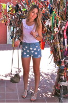 ivory Rings and Tings bracelet - sky blue Chicnıva shorts