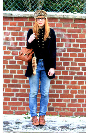 new look shoes - Pimkie jeans - Zara coat - vintage faux-fur hat