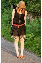 Zara dress - H&M skirt - vintage shoes - vintage belt