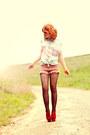 Skull-collar-romwe-shirt-romwe-shorts-asos-heels