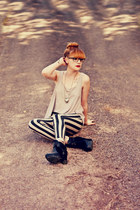 asos top - Nelly heels - Ax-Paris pants - tempory tatoo DCER accessories