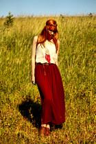 Pimkie shoes - Pimkie bag - vintage top - American Apparel skirt