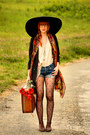 Pimkie-shoes-h-m-jacket-vintage-scarf-levis-shorts-h-m-blouse
