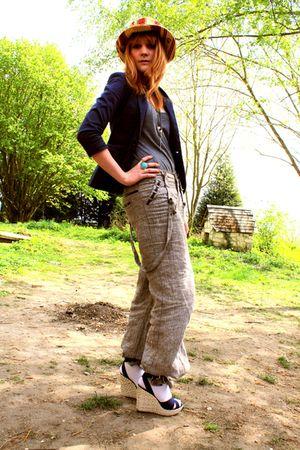 Promod pants - vintage hat
