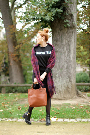 absolutely oasa sweatshirt - PERSUNMALL scarf - faux leather younghungryfree bag