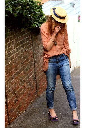 vintage hat - shoes - Zara shirt