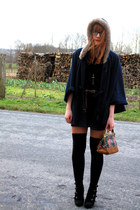 Pimkie cape - Kookai dress - Zara bag - Pimkie wedges