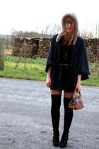 Pimkie cape - Kookai dress - Zara bag - Pimkie wedges