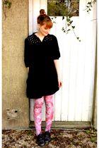 H&M tights - Naf Naf dress - H&M accessories