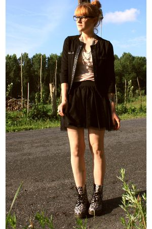 doc martens shoes - H&M skirt