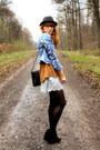 H-m-jacket-vintage-sweater-vintage-bag-h-m-shorts