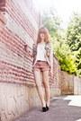 Vintage-shoppalu-jacket-scrappy-romwe-shorts-romwe-flats