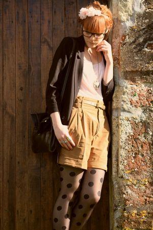 Zara shorts - H&M top - H&M jacket - vintage purse