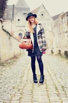 H&M dress - Choies coat - Choies hat - PERSUNMALL bag