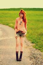 asos boots - Zara shirt - Promod shorts