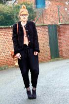 vintage coat - Zara pants - H&M belt - Zara shirt