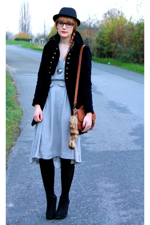 Zara jacket - H&M shoes - Comptoir des Cotonniers dress