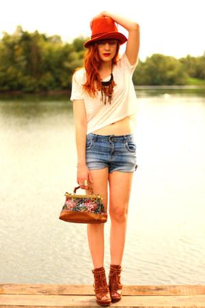 Zara hat - H&M top - asos wedges
