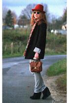 H&M shoes - H&M jacket - Cheap Monday jeans - vintage scarf - Pimkie bag