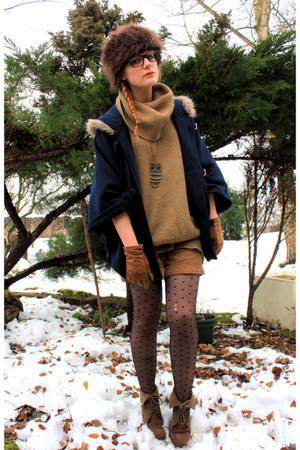 united colors of benetton sweater - Zara boots - Pimkie coat - H&amp;M hat