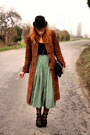 Vintage-coat-vintage-purse-vintage-skirt-pimkie-wedges