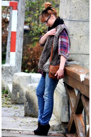 H&M shoes - Pimkie jeans - vintage shirt - Zara jacket