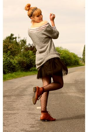 H&M skirt - H&M tights - Galeries Lafayette sweater