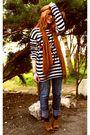 Blue-zara-jeans-black-promod-sweater-brown-h-m-scarf-brown-vintage-shoes-