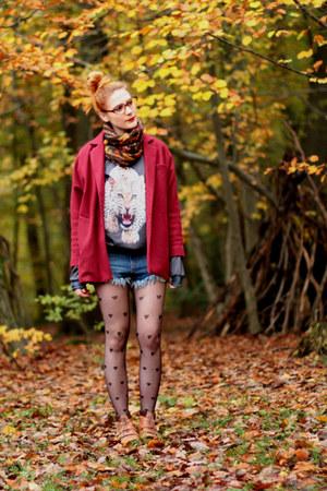 leopard print MrGugu&MissGo sweater - oversized choiescom coat - Romwecom shorts