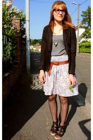 H&M skirt - H&M jacket - H&M t-shirt - H&M tights