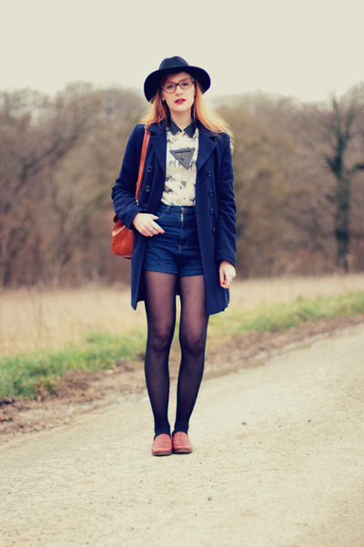 Mango coat - deer OASAP shirt - PERSUNMALL bag - romwe shorts