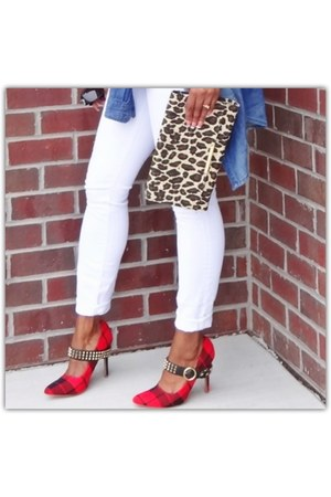 leopard print purse - plaid pumps