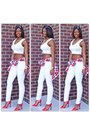 White-express-jeans-crop-f21-shirt-red-christian-louboutin-pumps