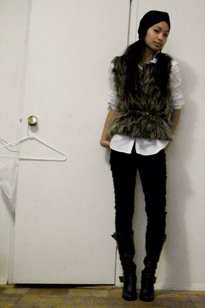 by Precy hat - Zara shirt - Luna vest - Blank Denim jeans