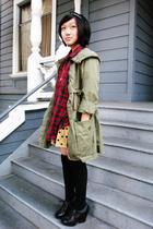 Gap accessories - thrifted shirt - gap kids skirt - Gap jacket - Target socks -