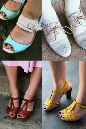 Rachel Comey shoes - Chie Mihara shoes - vintage shoes - Biviel shoes
