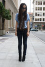 J Brand jeans - black H&M shoes - Zara