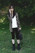 American Apparel leggings - forever 21 - Frye - Zara dress