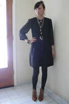 black House of Dagmar dress - brown lace-up boots Michael Kors